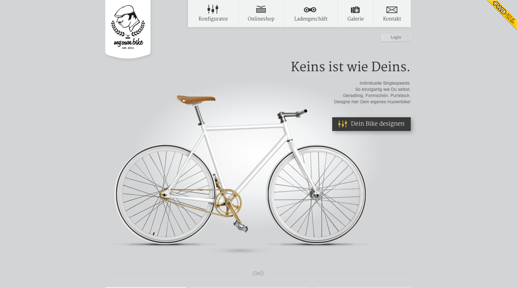 Screenshot von myownbike